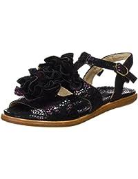 Neosens S943 Fantasy Floral Black Aurora, T-Strap Sandals Femme