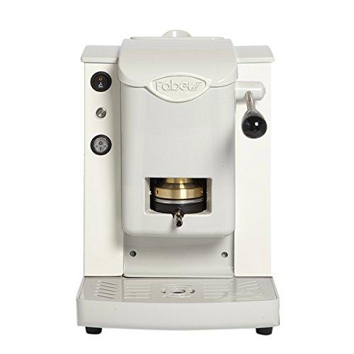 Faber Italien Faber Slot Plast Kaffeeautomat A Kaffeepads ESE 44mm–Farbe Weiß mit Finish...