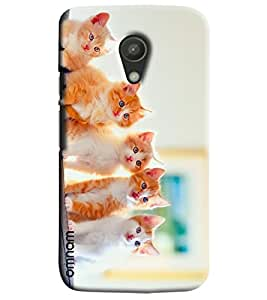 Omnam Five Cats Sitting And Giving Beautiful Pose Printed Designer Back Cover Case For Moto G2