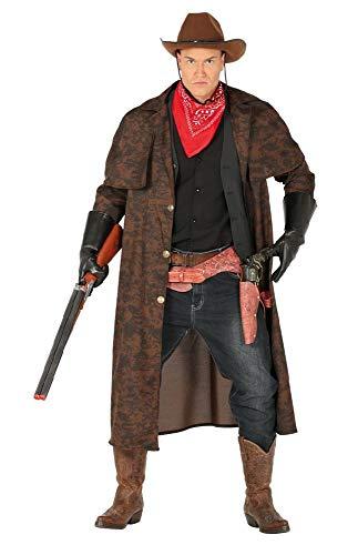 Herren Cowboy Mantel mit Halstuch Gr. L Staubmantel Bandana Kostüm Western Wilder Westen Old Shatterhand Wildwest Prärie (John Wayne Cowboy Kostüm)