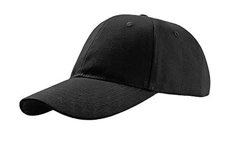 Black 6 panel baseball cap