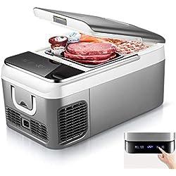 ZY Car refrigerator Congélateur de compresseur, Mini glacière électrique multifonctionnelle - 12v / 24v CC / 220v pour Les Voyages de Longue Distance et Le Camping (18L / 26L)