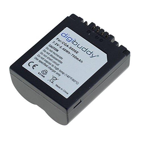 OTB 8001919 Batterie Li-ION pour Panasonic CGR-S006 Noir