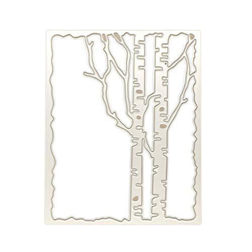 e Stanzschablone, Scrapbooking Stanzformen Schablonen Zweig Rahmen Metall Stanzformen Schablone DIY Scrapbooking Album Stempel Papier Karte Prägung Handwerk Dekor ()