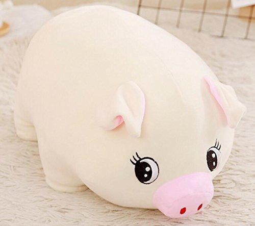 (EoamIk Niedliche Stofftiere Baby Weiche 15 cm Plüsch Schwein Spielzeug Gefüllte Animierte Schwein Tier Puppe für Kinder Geschenk Raumdekoration (weiß))
