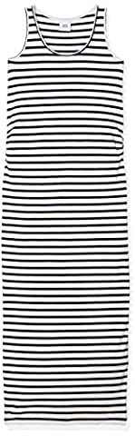 MAMALICIOUS Women's MLLEA ORGANIC Y/D TANK MAXI DRESS Maternity Dress, White (Snow White), 38 (Manufacturer size: Medium)