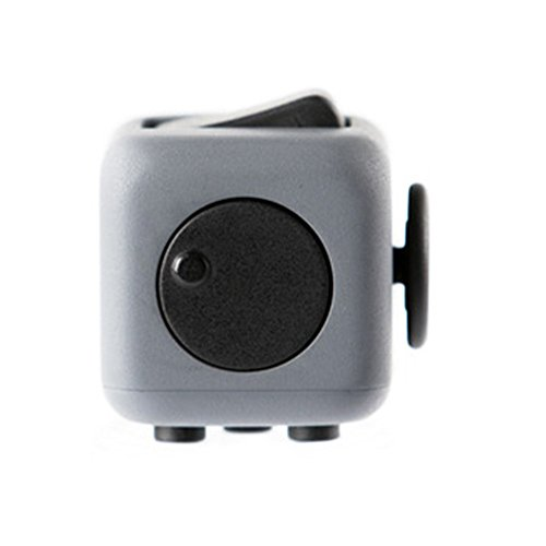 Decompression Fidget Cube Anti – Irritability Anxiety Decompression Dice Vent Artifact Creative Toys Gifts 6 colors (Gray Red) - 6