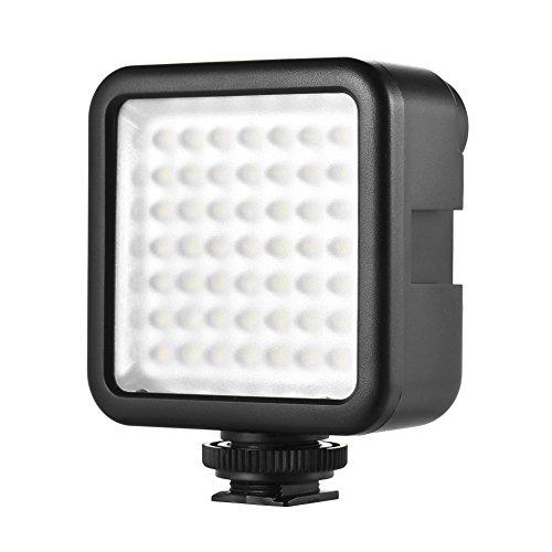 Andoer W49 Faretto a LED Mini per Canon Nikon Sony A7 DSLR