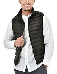 Panegy - Chaleco de Pluma para Hombre Ligero Plegable Chaqueta de Abrigo Acolchado de Plumaje para Invierno Deportes sin Mangas