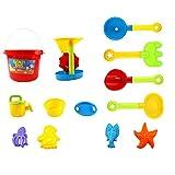 LVPY Strandspielzeug Kinder,13 Stück Strand Spielzeug Set Sandspielset, Assorted Colours