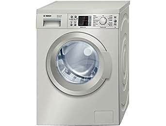 Bosch WAQ2848XFF Autonome Charge avant 8kg 1400tr/min A+++-30% Argent machine à laver - machines à laver (Autonome, Charge avant, Argent, Gauche, LED, Acier inoxydable)