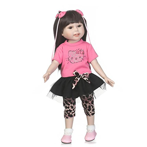 Nicery Lovely Girl jouet poupée haute en vinyle souple 45,7cm 42–45cm enfant ami réaliste mobiles Smile Princesse Rose Robe Noire avec robes pour Thanksgiving Black Friday Jour de Noël