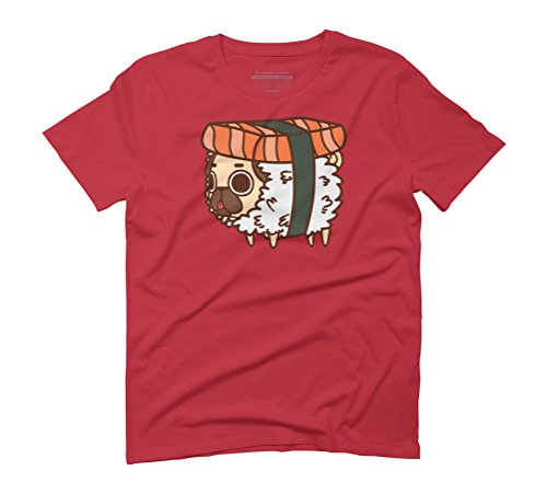 Puglie Salmon Sushi Men's Graphic T-Shirt - Design By Humans Red