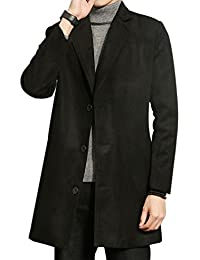 5e1d018ed556 ZhiYuanAN Herren Mantel Große Größe Mode Trenchcoats Casual Winter Warme  Lange Jacke Overcoat Outwear