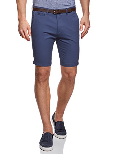 oodji Ultra Men's Belted Cotton Shorts