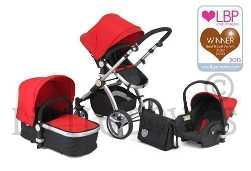 BLACK & RED CARRERA SPORT 3-in-1 Baby Travel System/Pushchair/Pram/Buggy/Stroller 41vL11xyhPL