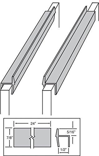 Custom Akzente PVC Hängeregistratur Schiene für 1/2Schublade Seiten 2Füße lang schwarz (Verkauft in Paar) -