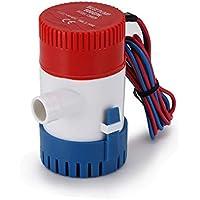 Winbang 500GPH - Bomba de Agua Sumergible para Barco eléctrico de 12 V