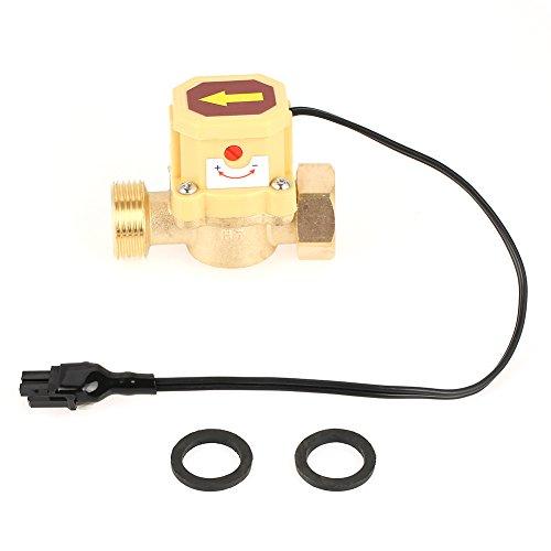 GLOGLOW Interruptor Flujo Agua, presión de la Bomba de líquido Interruptor del Sensor de Control del Flujo del Agua Contador del caudalímetro Rosca G3 / 4 0.6 Mpa