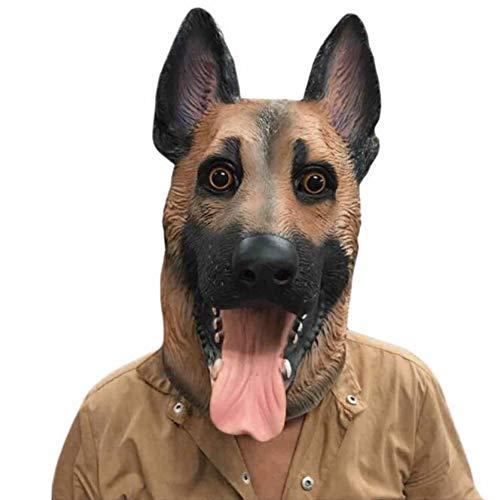 Für Hunde Kostüm Scary - WZYWSJ Halloween Maske Wolf Hund Maske Maskerade Vollgesichts Kopf Scary Party Kostüm Festival Dekor