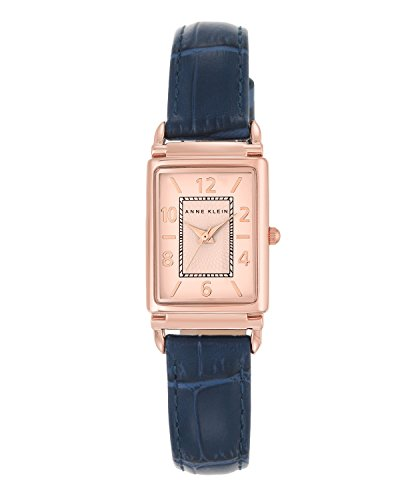 anne-klein-womens-elizabeth-quartz-watch-with-white-dial-analogue-display-and-blue-leather-strap-ak-