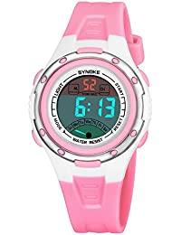Reloj digital para niños Niños Niñas Deportes Relojes impermeables con alarma  Recordatorio cronómetro Reloj de pulsera c495351811f9