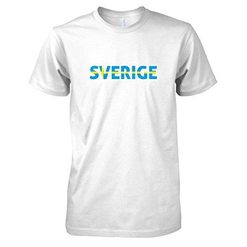 TEXLAB - Sverige Schrift - Herren T-Shirt, Größe XXL, (Bella Team Kostüme)