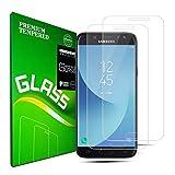 Galaxy J5 2017 Protecteur d'écran en Verre trempé, [2 Pièces] [Couverture Complète] [Dureté 9H] [HD Clear] [Anti-Rayures] Protection Protecteur d'écran pour Samsung Galaxy J5
