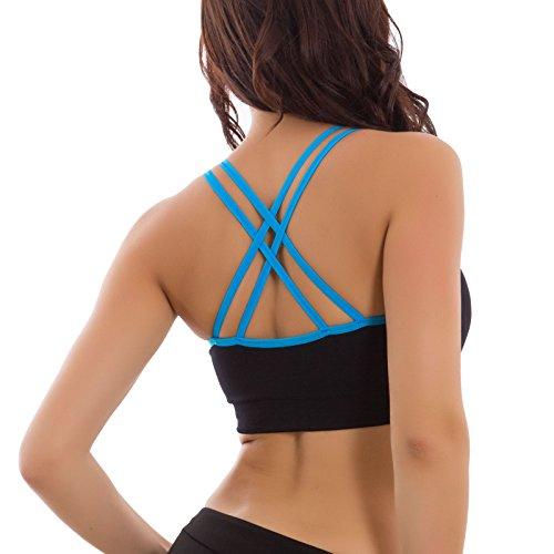 Toocool - Top donna reggiseno intimo sport fitness palestra running nuovo 3068-MOD Turchese