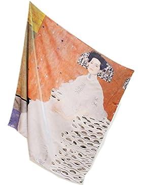 Prettystern - 110cm de gran tamaño satén de seda crepé pesado (16 mm de espesor) de tela de seda handroulier Nouveau...