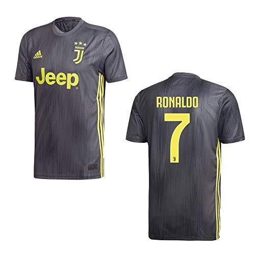 adidas Juventus Turin Trikot 3rd Herren 2019 - Ronaldo 7, Größe:M