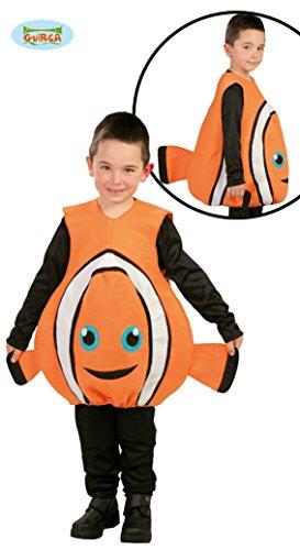Wasser Dem Fisch Aus Kostüm - Guirca Clown Fisch Kostüm für Kinder Gr. 110-146, Größe:140/146