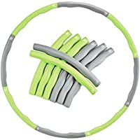 EVER RICH ® FitnessWave Weighted Fitness Exercise Hula Hoop - (Green / Grey)