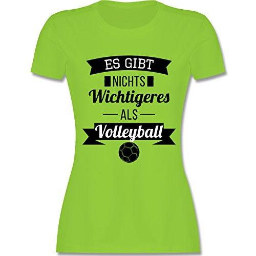 Volleyball - Es gibt nichts Wichtigeres als Volleyball - tailliertes Premium T-Shirt mit Rundhalsausschnitt für Damen Hellgrün
