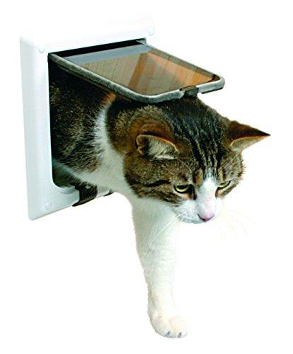 Puerta para gatos TRIXIE Gatera 4 posiciones con tunel