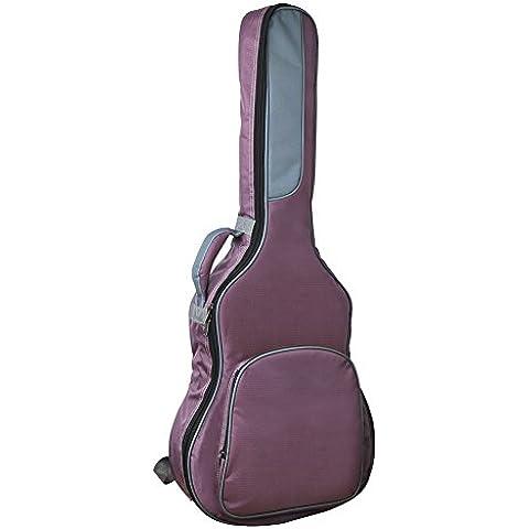 GEEDIAR® 41 inch 1680D Bolso de la Guitarra Material de Oxford Impermeable y Resistente Púrpura