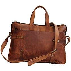 Craftvilla - Bolso bandolera de Piel Marrón marrón