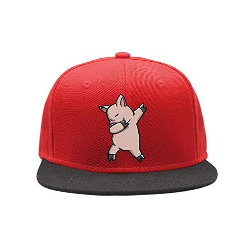 Men Women Pig Dabbing Denim Fabric Baseball Hat Adjustable Street Rapper Hat  X1378 048af307d20d