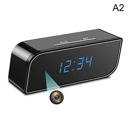 Suppyfly 1080p cámara inalámbrica Reloj Despertador detección de Movimiento niñera DVR de visión Nocturna para la Seguridad del hogar