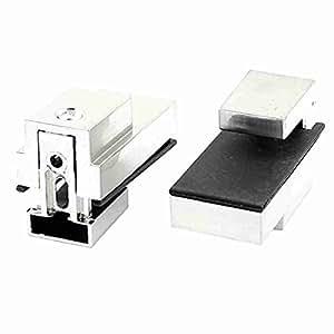 TTcity 4mm-15mm Dicke Satin Nickel Verstellbare Glasregal Clip Clamp 2pcs