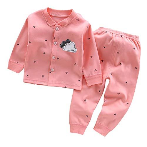 Wawer Kind Kind Baby Jungen Mädchen Langarm Cartoon Freizeit Wear Pyjamas Outfits Set Kinder Qiuyi Qiuku Baumwolle Kleidung Unterwäsche Home Service Anzug (Schmetterling Mädchen Pyjamas Baumwolle)