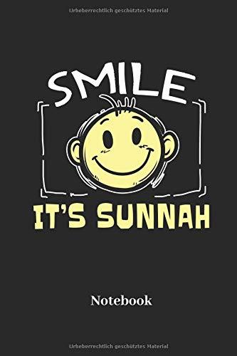 Smile Its Sunnah Notebook: Liniertes Notizbuch für Gläubige, Gebets und Religion Fans - Notizheft, Klatte für Männer, Frauen und Kinder