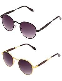 ADDON EYEWEAR Brand UV Protected Unisex Round Wayfarer Sunglasses For Men Women Boys And Girls Non Polarized Goggle... - B077D9L69G