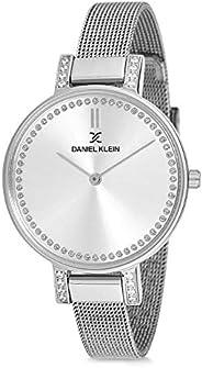 Daniel Klein Analog Silver Dial Women's Watch-DK121