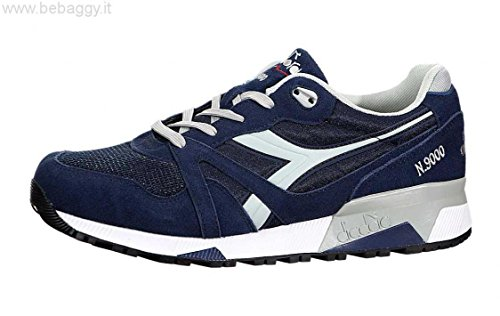 Sneaker Diadora Unisex Adulto N9000 Iii Collo Basso, Blu Blu