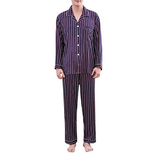 e Mode Streifendruck Lange Kurzarm Weichen Hause Nachtwäsche Hemd Shorts Pyjamas Set ()
