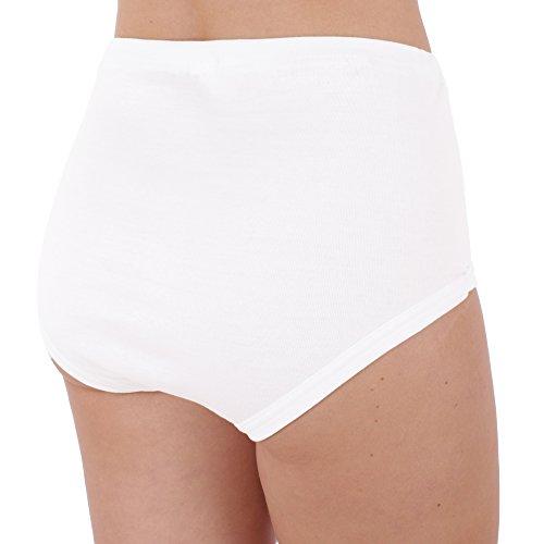 3er Pack Damen Slips Nr. 331 - 2400 (Schlüpfer, Unterhose) ( Weiß / 52/54 ) - 3