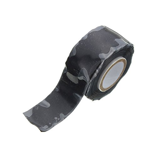 1Rolle 3M * 25mm schwarz Silikon Reparatur-Klebeband, selbstklebend Abdichten Reparatur Klempner Tape, wasserdichtes Gummi Klebeband für Rohr & Wasser Schlauch auslaufen