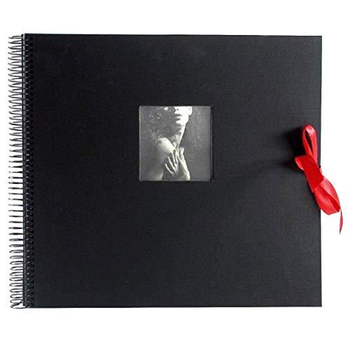 Goldbuch Spiralalbum mit Fensterausschnitt, Dream, 35 x 30 cm, 40 schwarze Seiten, Leinen, Schwarz, 25555