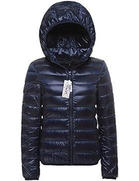 Topgraph Para Mujer Chaqueta Portátil de con capucha Extremadamente Ligera Woman Down Jacket Hoodie